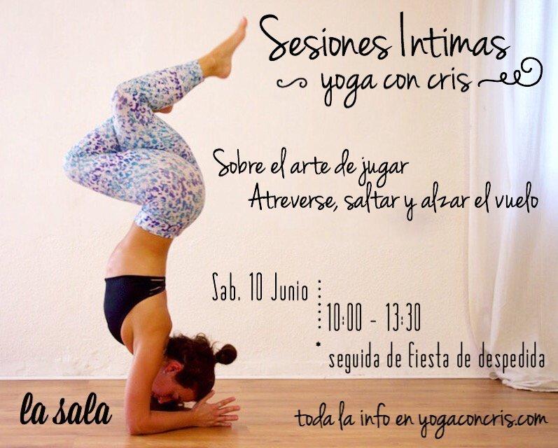 Sesiones Intimas Workshop Yoga con Cris Madrid