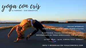 taller intensivo yoga con cris donostia san sebastian