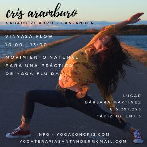 Santander 21 Abril taller yoga con cris