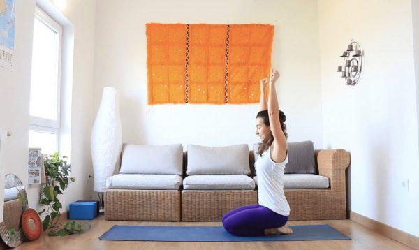 Va a rachas clase online yoga con cris